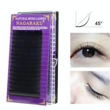 16Rows natuurlijke make-up wimpers zwarte valse wimpers Eye wimpers extension tools  curl: B  dikte: 0.06 mm (8mm)