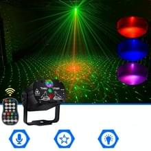 MN-R60 USB Oplaadbare Mini Voice-activated Laser Light Christmas Home Entertainment Flash LED Laser Atmosphere Light Stage Light Light