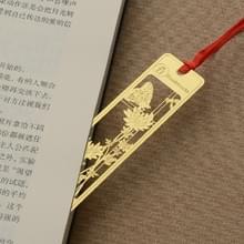 Vintage mooie opengewerkte metalen bladwijzers studenten school briefpapier (Chrysanthemum)