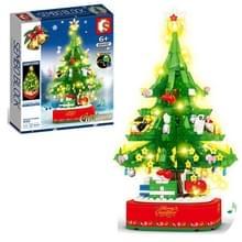 Kerstmis Roterende Lichte MuziekDoos Geassembleerd Bouwstenen Kinderen Vakantie Giften  Stijl: Kerstboom