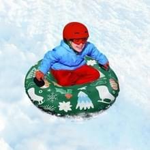 Kerstpatroon Opblaasbare Ski Ring Winter Speelgoed Verdikt Milieubescherming Koude Resistente PVC Ski Ring