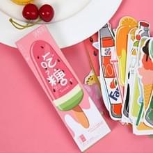 2 dozen cartoon patroonblad wijzer bericht kaart briefpapier geschenken  patroon: het eten van suiker