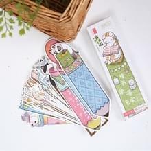 2 dozen cartoon patroonblad wijzer bericht kaart briefpapier geschenken  patroon: kat in het boek