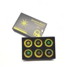 10ST Quantum Shield mobiele telefoon sticker voor mobiele telefoon anti straling bescherming tegen EMF Fusion Excel anti-straling goud