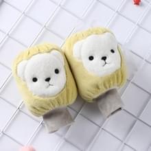 5 paren herfst en winter kinderen Universele Cartoon Bear Patroon Cute Wear-resistente anti-vuile mouwen (geel)