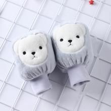 5 paren herfst en winter kinderen Universele Cartoon Bear Patroon Cute Wear-resistente anti-dirty mouwen (Blauw)