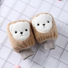 5 paren herfst en winter kinderen Universele Cartoon Bear Patroon Cute Wear-resistente anti-vuile mouwen (koffie)
