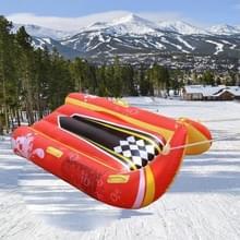 Winter kinderen opblaasbare speelgoed dubbele ski raft slee surfplank