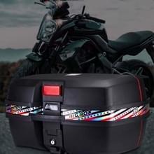 47L elektrische motorfiets accessoires tail box grote capaciteit tool opbergbox trunk(668 Extra Groot Zwart)