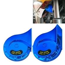 2 PCS / Set 12V Motorcycle Electric Car Modified Mono Horn (Blauw)