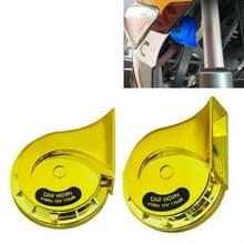 2 PCS / Set 12V Motorcycle Electric Car Modified Mono Horn (Golden)