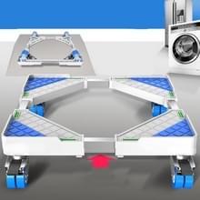 Single Tube 4 Wielen verstelbare roestvrijstalen koelkastbeugel wasmachine Base Bracket