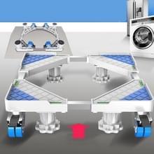 Single Tube 4 Wielen + 4 poten verstelbare roestvrijstalen koelkastbeugel wasmachine base bracket