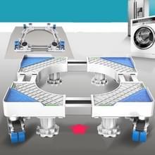 Dubbele buizen 4 wielen + 4 poten verstelbare roestvrijstalen koelkastbeugel wasmachine basisbeugel