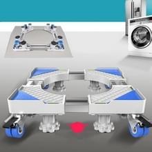 Dubbele buizen 4 wielen + 8 poten verstelbare roestvrijstalen koelkastbeugel wasmachine basisbeugel
