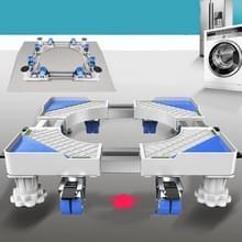 Dubbele buizen 8 wielen + 4 poten verstelbare roestvrijstalen koelkastbeugel wasmachine basisbeugel