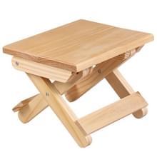 Draagbare eenvoudige Pine massief houten vouwen kruk outdoor Hengelsport stoel kruk (24x18x19cm)