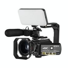 ORDRO AC3 3 1 inch IPS-scherm 4K Full HD 13MP Night Vision WiFi Live Camcorder DV digitale camera  Stijl:Standaard+ microfoon +vullicht(zwart)