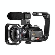 ORDRO AC5 4K HD Night Vision WiFi 12x Optical Zoom Digitale Video DV Camera Camcorder  Style:Standard + Microfoon + Handheld Stand(Zwart)