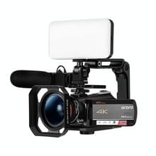 ORDRO AC5 4K HD Night Vision WiFi 12x Optical Zoom Digitale Video DV Camera Camcorder  Style:Standard+ Microfoon + Vullicht(Zwart)