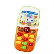 3 stuks elektronische speelgoed telefoon Kid muziek mobiele telefoon educatieve leren speelgoed  willekeurige kleur levering
