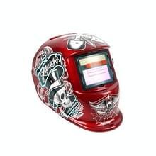 Solar Automatische Verduistering Lasmasker Argon Arc Lashelm (Red Pirate)