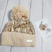MZ152 Herfst en Winter Cute Wool Ball Knitted Hat Vrouwen Plus Velvet Warm Ear Protection Wool Hat  Maat: One Size (Beige)