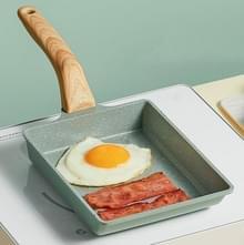 Tamagoyaki Mini Nonstick Pan Flat-Bottomed Ontbijtpan  Stijl: Lang-vormig (Groen )