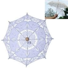 Bruiloft Bruidskant Paraplu Shooting Props Wedding Supplies  Grootte: Lengte 26cm / Diameter 29cm (Wit)