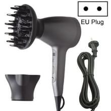 Lescolton 9809 Household Smart High-power Cold Hot Wind Leafless Negative Ion Hair Dryer met Hair Comb  Plug Type:EU Plug(Black)