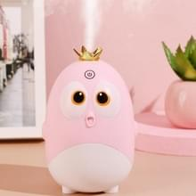 Cute Chicken Crown Office Desktop USB Humidifier Home Mute Aroma Diffuser (Lichtroze)