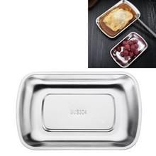 3 PCS Roestvrijstalen lade fruit snack opberglade hotel servies handdoek schotel snack schotel  grootte: klein (staal)