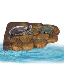 Groot water schildpad zon terras drijvende eiland calcium supplement zon terug klimmen platform