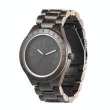 UWOOD UW-1001 houten horloge Quartz Horloge voor mannen(Zwart)