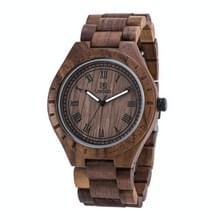 UWOOD UW-1001 houten horloge Quartz Horloge voor mannen(walnoot)