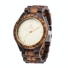 UWOOD UW-1001 Houten horloge Quartz Horloge voor mannen (Zwart Zebra Hout)