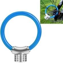 Fiets ring slot anti-diefstal slot fiets draagbare mini veiligheidsslot racket slot vet kabelslot  kleur: blauw