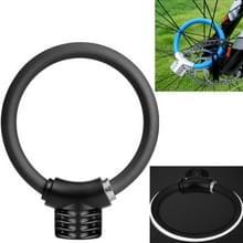 Fiets ring slot anti-diefstal slot fiets draagbare mini veiligheidsslot racket slot vet kabelslot  kleur: reflecterende Mat Zwart