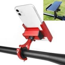 FIETSBOX Aluminium Legering mobiele telefoon houder fiets rijden Afhaalbare metalen mobiele telefoon beugel  stijl: stuur installatie (rood)