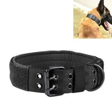 Multifunctionele verstelbare hond riem huisdier outdoor training slijtage-resistente kraag  maat: L (Zwart)