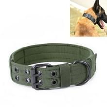 Multifunctionele verstelbare hond riem huisdier outdoor training slijtage-resistente kraag  maat: L (Groen)