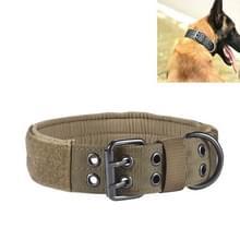 Multifunctionele verstelbare hond riem huisdier outdoor training slijtage-resistente kraag  maat: L (Bruin)