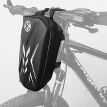 Fiets met grote capaciteit hard-shell fiets voortas fiets fiets fiets fiets fiets fiets rijtas met reflecterende strip waarschuwingszak voorligger gecharterde fiets voorzak (zwart)