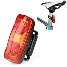 Magnetische inductie achterlicht Fiets Self-Generation Inductie achterlicht waterdicht Night Riding Safety Warning Light (Rood)