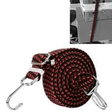 3 PCS fietsbinding touw verbreding en verdikking multifunctionele elastische elastische bagage rope plank touw  lengte:2m (rood)