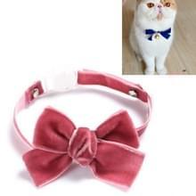 5 PCS Velvet Bowknot Verstelbare Pet Collar Cat Dog Rabbit Bow Tie Accessoires  Maat: S 17-30cm  Style:Bowknot (Bean Paste)