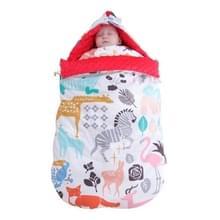 Baby katoen anti-shock herfst en winter verdikking dual-use pasgeboren quilt baby erwten deken slaapzak (dierlijke wereld dik met schouderpad )