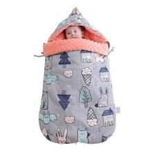 Baby Katoen anti-shock herfst en winter verdikking dual-use pasgeboren quilt baby erwten deken slaapzak (Magic Elf dik met schouderpad)