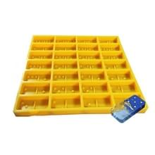 Domino Epoxy Siliconen Mold DIY Fondant Cake Decoratie  ModelNummer: SX-BH-108 (Geel)