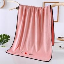 Zachte dikke absorberende vezel paar grote handdoeken  grootte: 70x140cm (Roze)
